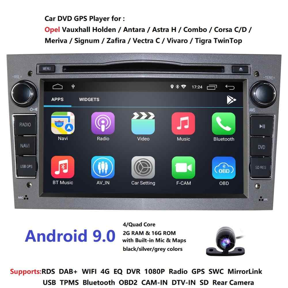 Android 9.0 2Din voiture DVD AUTORADIO NAVIGATION WIFI 4G DAB + OBD2 pour Vauxhall Opel Astra H G Vectra Antara Zafira Corsa multimédia