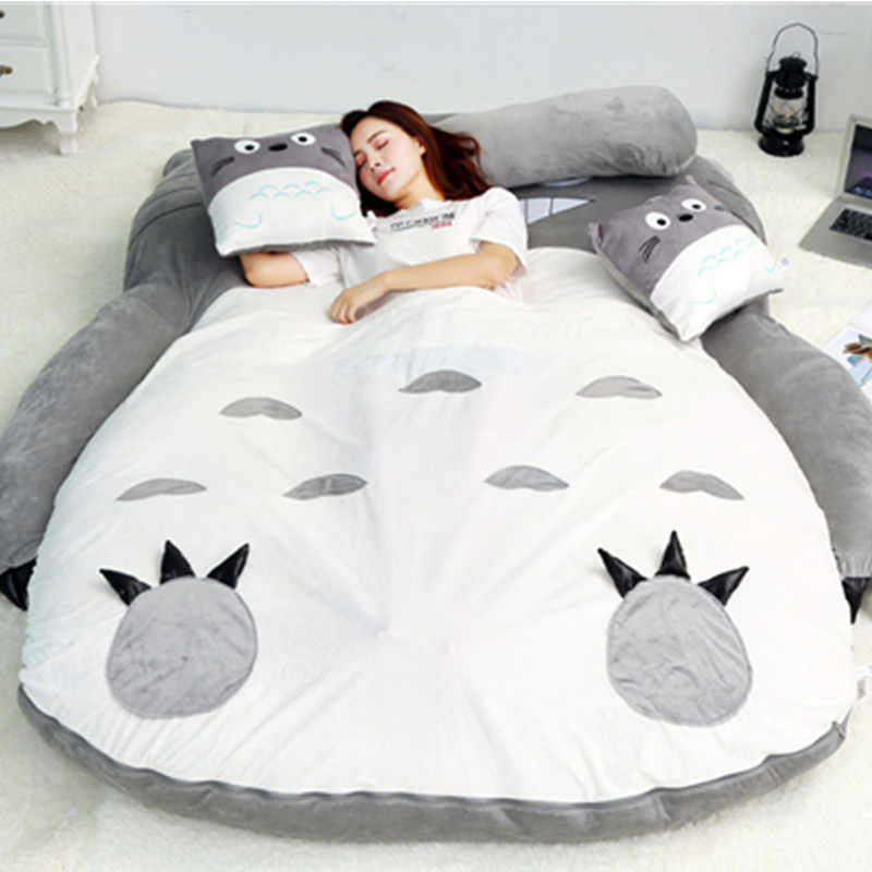 Sofá cama perezoso plegable de terciopelo suave súper cálido de dibujos animados lindo Thicken cama para niñas camas de niños con almohada muebles de dormitorio