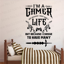 Gamer wall decal Gifts Eat Sleep Game Controller video game wall decals Gift Kids Bedroom Vinyl Wall Art Decals PW223 gamer wall decal eat sleep game controller video game wall sticker for bedroom vinyl decals mural wall decor wallpaper pw206