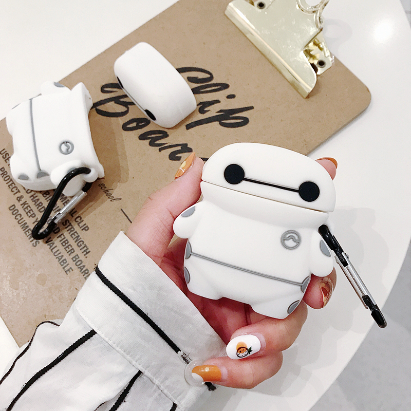 Original For Apple Airpods 1 2 Wireless Bluetooth Earphone <font><b>Case</b></font> Big white silicone ear shell For Apple AirPods New Cute Cover Bo image