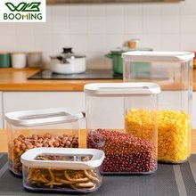 WBBOOMING Food Container Fridge Organize Box Kitchen Storage Box Plastic Sealed Cans Keep Fresh New Clear Container With Lids