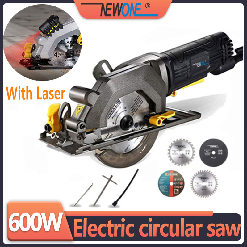 NEWONE Electric Mini Circular Saw With Laser Multifunctional Electric Saw DIY Power Tool For Cut WoodPVC tube