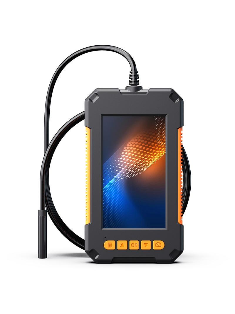 Camera Battery Borescope Led-Lights Industrial-Endoscope P40 Dual-Lens Ips-Screen IP68