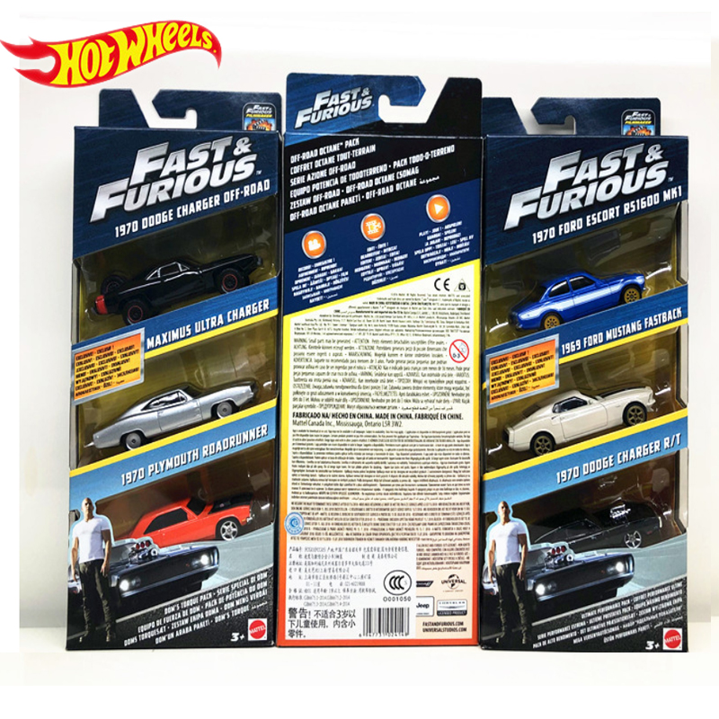 Genuine Hot Wheels Fast and Furious Series 3 Cars Dodge Charger Preferential Pack Kid Toys Boy Birthday Gifts FCG01 2