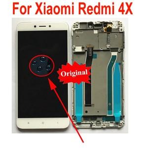 Image 2 - Стеклянный сенсорный ЖК дисплей MAE136, оригинальный сенсорный экран с дигитайзером в сборе и рамкой, запчасти для Xiaomi Redmi 4X