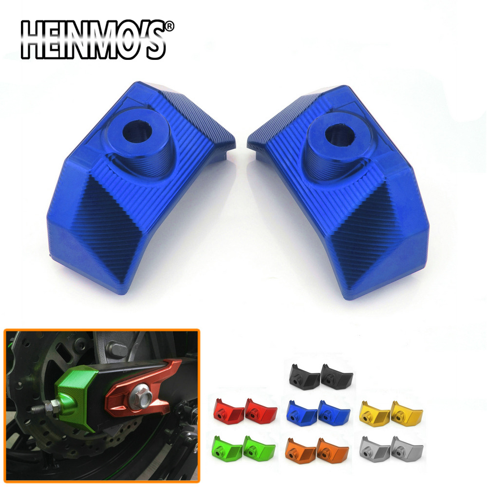 Motorcycle Accessories For Kawasaki Z800 2015 2014 2013 Rear Fork Spindle Chain Adjuster Blocks End Swingarm Caps Covers