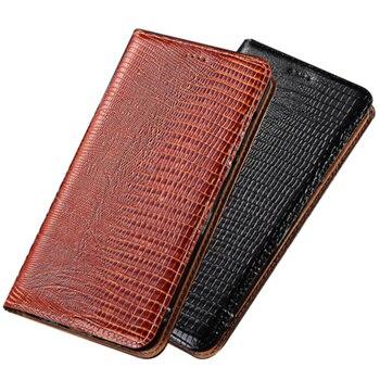 Lizard genuine natural leather holster card slot holder cover for Xiaomi Poco X3 NFC/Xiaomi POCOphone F1/Xiaomi POCO F2 Pro case
