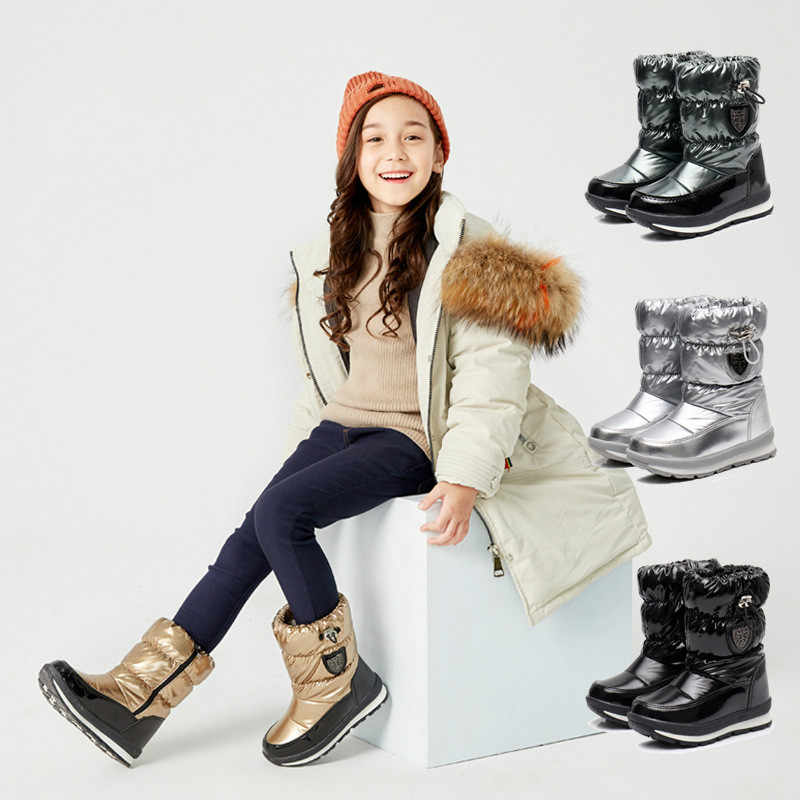Kids Snow Boots Water Repellent Winter Boots Mother daughter family shoes  size 26 41# Girls Winter Outdoor Snow Boot|Boots| - AliExpress