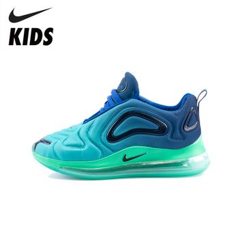 Buty dziecięce Nike Air Max 720 oryginalne nowości dziecięce buty do biegania poduszka powietrzna wygodne sportowe trampki # AO9294-400 tanie i dobre opinie RUBBER Pasuje prawda na wymiar weź swój normalny rozmiar 0-1 M 10 m 12 m 16 M 17 M 18 m 19 M 21 m 22 M 23 M 24 m 25 M