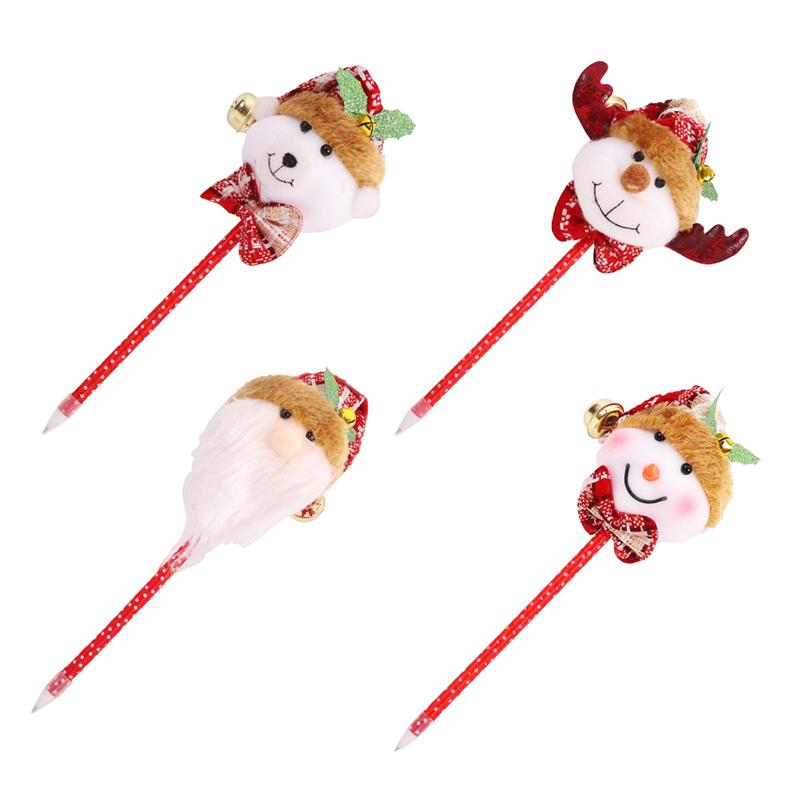 4Pcs Pens Lovely Creative Durable Christmas Themed School Stationary for Kids Office