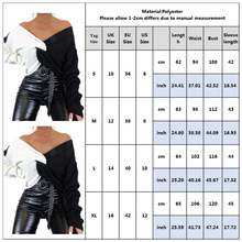Women Sweater Black And White Mix Color Creative Designed Sweater V Neck Short Top Sexy Ladies Off Shoulder Sweater Femme D25