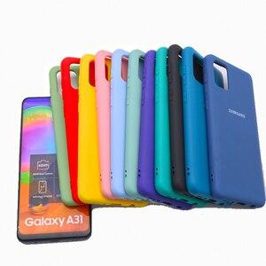 Image 3 - Original Liquid Silicone Case For Samsung Galaxy A02S A20E A01 A11 A21S A31 A51 A41 A71 A12 A32 A52 A42 A72 M51 M31 Soft Cover