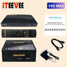 SOLOVOX recibidor de TV satélite 2020 V8S MAX FHD ALI3521, compatible con WiFi USB, YOUTUBE, Xtream H265, decodificador STB V8SMax, reemplaza V8S Plus