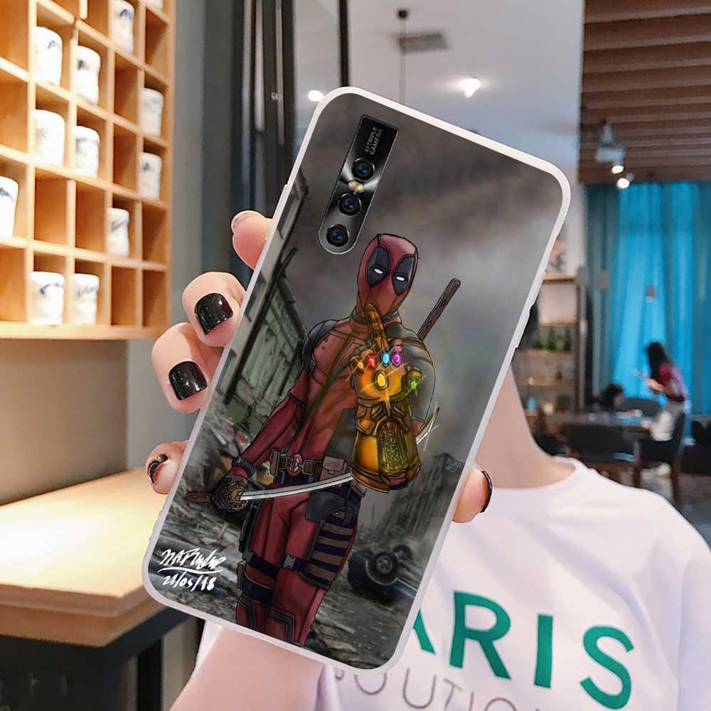 EWAU Marvel Deadpool telefon etui na VIVO Y53 Y81 V7 V9 V11 V15 Pro Y17 Y71 Y91 Y93 Y66 X9 Y11