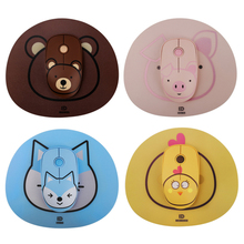 Gaming-Mouse Wireless with Cute Mat Silent 1600 DPI Optical-Mice Usb-Receiver for PC