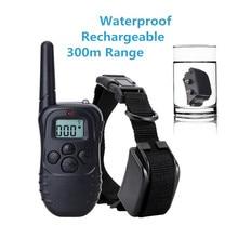Cão de estimação treinamento remoto colar recarregável à prova dwaterproof água eletrônico coleira choque remoto equipamentos de treinamento para cães