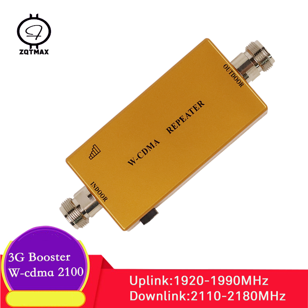 ZQTMAX 3g Repeater Wcdma Cellphone Signal Booster HSPA WCDMA 2100 MHz Amplifier Mobile Internet (Band1) UMTS