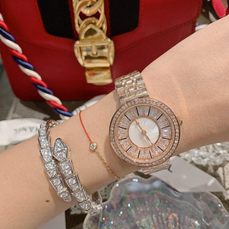 Cristal plein acier femmes montres dames montre-bracelet Quartz femme Feminino Relogio reloj hombre montre femme zegarek damski saati