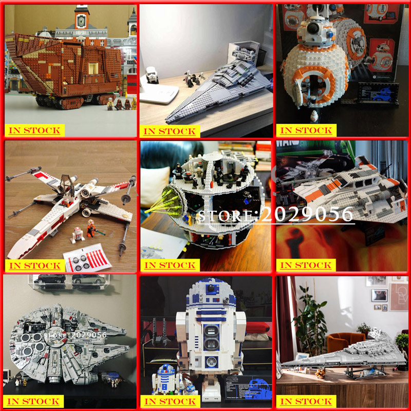 Star Wars Series 05038 05151 05045 05047 05084 05027 05028 05132 75252 Building Blocks Bricks Toys Sandcrawler Ewok Village
