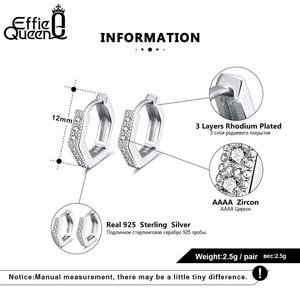 Image 5 - Женская фотография Effie Queen маленькая серьга кольцо Silver 12 мм с AAAA 925 пробы вечерние ний свадебный подарок BE261