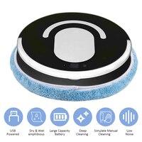 Robot aspirador para fregar, mopa totalmente automática, potente, recargable por USB de poco ruido, barredora de barrido, 3 modos de limpieza