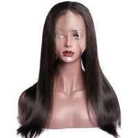 Maxine Hair Brazilian Straight Wig 360 Lace Frontal Wig Pre Plucked With Baby Hair 130% Density 10-24 Inch Lace Frontal Wig