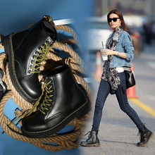 New Motorcycle Boots For Martin Boots Female Winter Shoes Women's Winter Boots Leather Ankle Boots For Women Snow Booties Red 42 lace up martin boots ladies winter snow boots for women fenty beauty ankle boots high quality leather booties chelsea shoes
