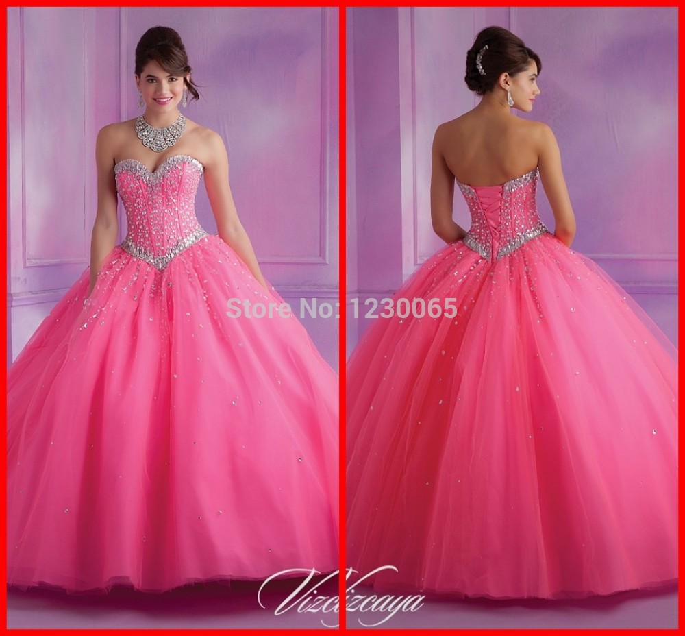 free shipping Cheap Price Custom Made 2015 New Design Sweetheart Shiny Crystal Ball Gown Long Sequins party Dresses prom dress