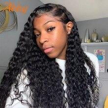 Vague profonde avant de lacet perruques de cheveux humains Abby cheveux perruque 180% densité 13x 4/13x6 brésilien vague profonde dentelle perruques cheveux humains pour les femmes