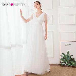 Image 4 - New Arrival Evening Dresses Long Ever Pretty A Line V Neck Tulle Women Summer Formal Party Dresses Vestidos De Fiesta De Noche