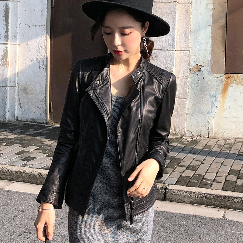Jacket Leather Genuine 2020 Autumn Winter Jacket Women 100% Real Sheepskin Coat Female Korean Bomber Jackets 4xl MY3816 S