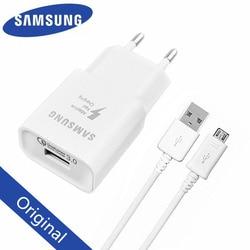 Оригинальное быстрое зарядное устройство Samsung QC 3,0, зарядный адаптер, usb-кабель для Galaxy M21, A10, J3, J5, j7, A3, A5, A7 2016, Note 2, 4, 5, S4, S6, S7 EDGE