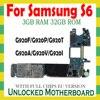 اللوحة الام الأصلية لسامسونج غالاكسي S6 G920F G920P G920V G920A G920T G920I G920F مقفلة اللوحة الام المنطق أجزاء اللوحة الام