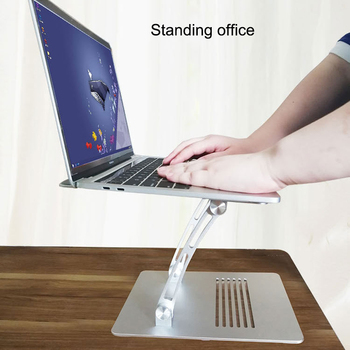 2019 Aluminum Alloy Foldable Laptop Stand Bracket Hollow Heat Dissipation Holder for Notebook H-best