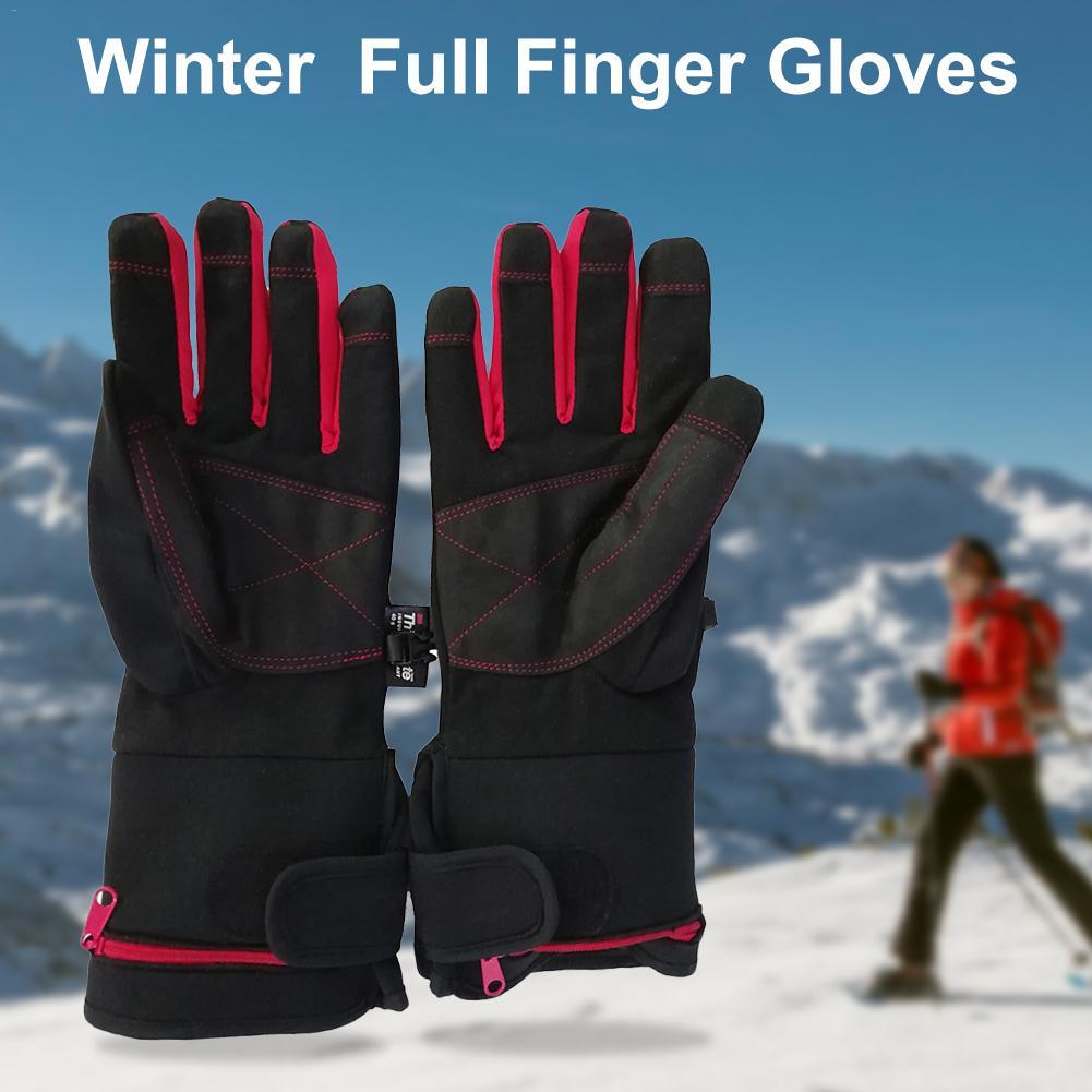 Gants de vélo écran tactile hiver thermique coupe-vent chaud doigt complet gants de cyclisme imperméable coupe-vent gant de ski intelligent