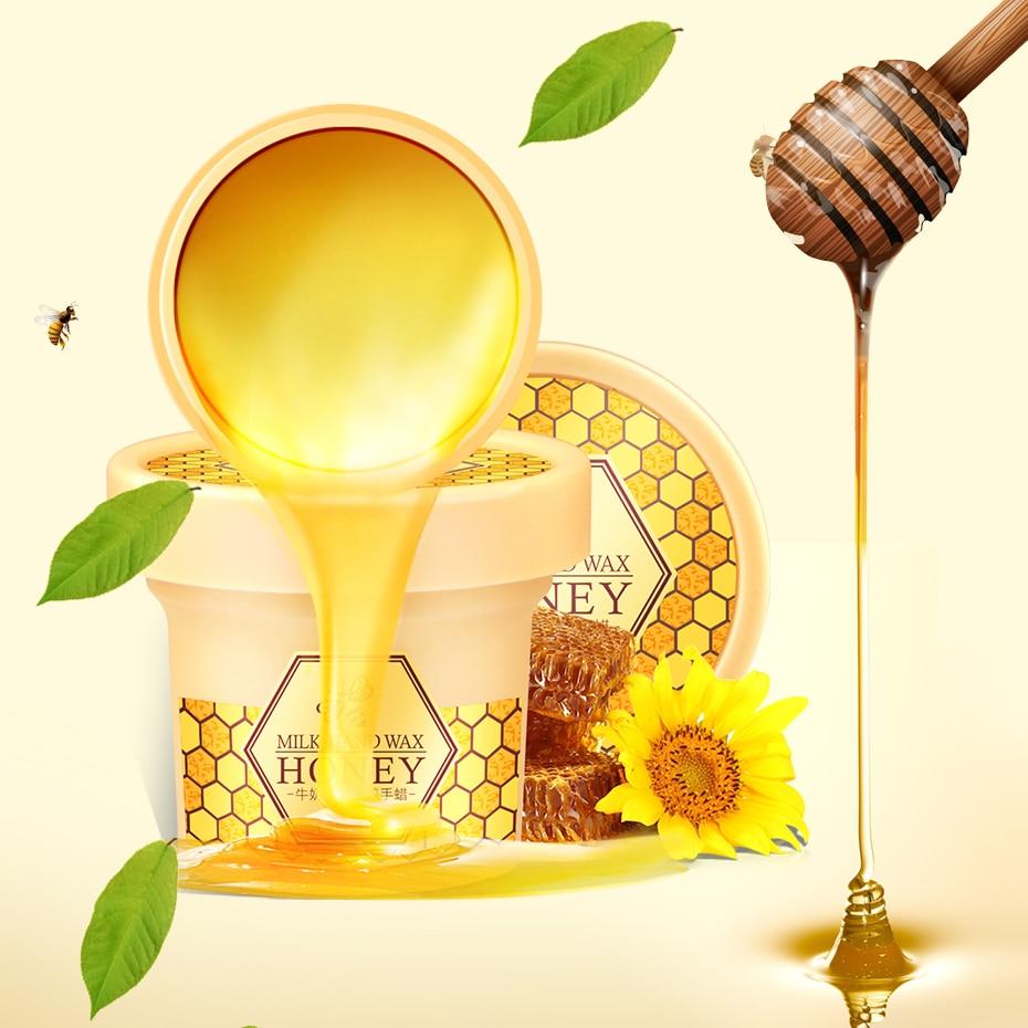 LAIKOU Milk honey nourishes hand wax Hand Care Moisturizing Whitening Skin Care Exfoliating Calluses Hand Film Hand Cream