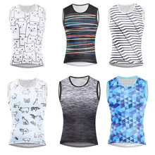 Cycling Underwear Base-Layer Bike Jersey Sleeveless Vest Bicyle Big-Mesh Quick-Dry Breathable