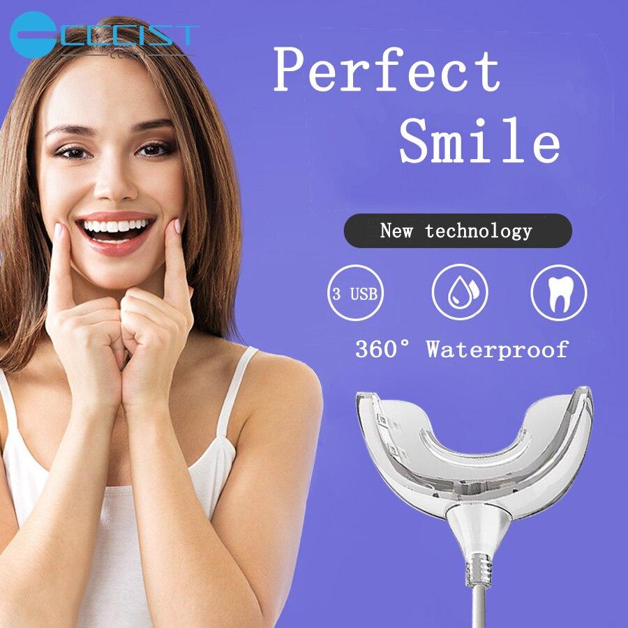 Teeth Whitening Dental LED Light Professional White Teeth Kit Device 3 USB Ports Gum Beauty & Health Oral Hygiene Perfect Smile