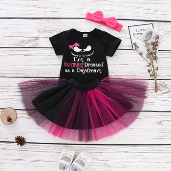 Baby Girls Nightmare Halloween Set - Romper + Tutu Skirt