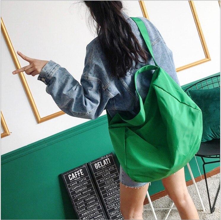 Image 3 - Ins 조수 숄더 가방 여성 새로운 유럽과 미국의 패션 솔리드 컬러 메신저 가방 대용량 간단한 휴대용 맞추기-에서헬스가방부터 스포츠 & 엔터테인먼트 의