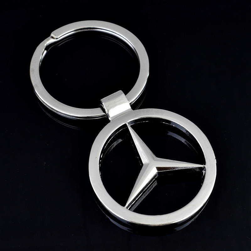Zinc Alloy Hollow Double-sided Car Logo Styling Key Ring Pendant For Gifts To Mercedes Benz Owners