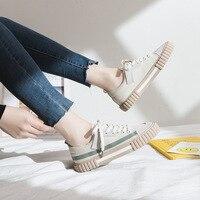 Femme chaussures 2019 été nouvelle mode femmes toile chaussures chaussures plates décontracté solide toile classique couleur bonbon femmes chaussures décontractées baskets