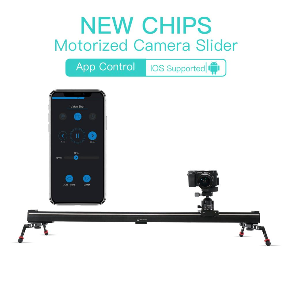 YC oignon caméra curseur motorisé ensemble en alliage d'aluminium Dolly Rail pour appareil photo DSLR MILC Time Lapse et vidéo Shot nouvelles puces 4 tailles
