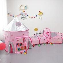 Tente de princesse tunnel pour filles, maison de jeux intérieure pour enfants, océan, fosse à balles, piscine, vaisseau spatial, tente, petites maisons pour filles, cadeau