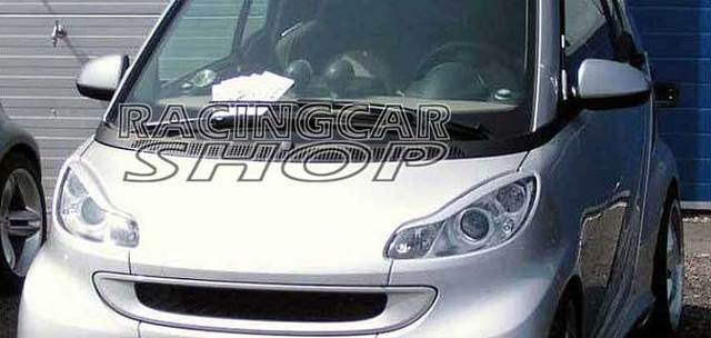 UNPAINTED Brows Lids Eyebrows Eyelids for SMART fortwo (451) Coupe/Cabrio Headlight 2007UP M115EF 3