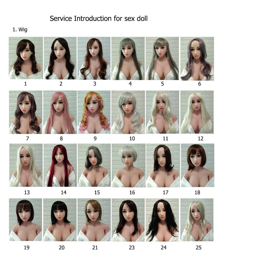 Beautiful wig and difference color hair for real silicone <font><b>sex</b></font> <font><b>dolls</b></font> from <font><b>100cm</b></font> to 168cm height body image