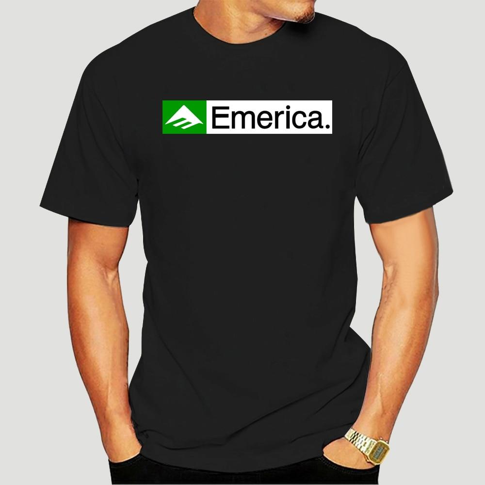 Emerica Skateboard Logo Black T-Shirt Grey White Men Tee Size S to 3XL Cool Casual pride t shirt men Unisex Fashion tshirt-3879A