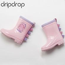 купить DRIPDROP Kids Rain Boots Girls Boots Boys Boots Toddler Little Kids Non-Slip Waterproof Kids Shoes дешево