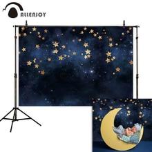 Allenjoy фоны для фотосъемки темное звездное небо мерцающие золотые звезды мерцающие украшения обои Фотофон