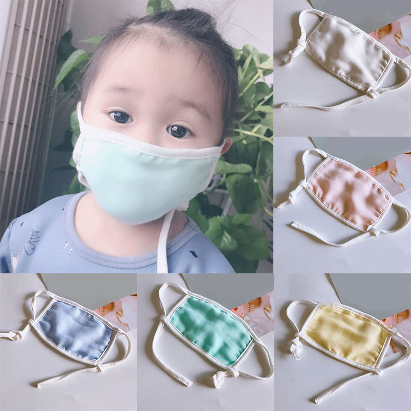 1pcs Kids Baby Reusable Adjustable Washable Cotton Anti Pollution Dust Mouth Mask Against Flu Germs Mask